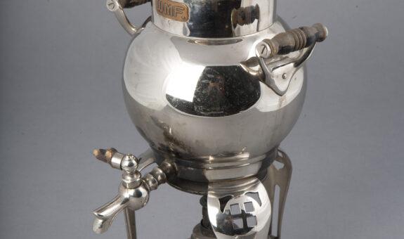 кофеварка на спиртовке, принадлежавшая Ф.И.Шаляпину. к. XIX в
