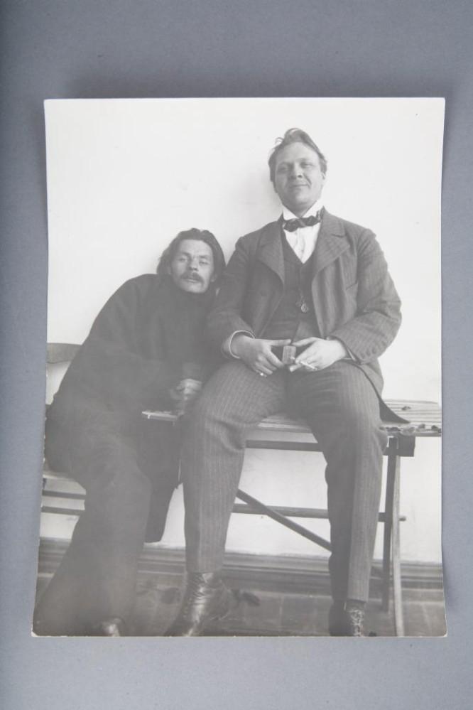 фото А.М.Горького и Ф.И.Шаляпина. 1914 г