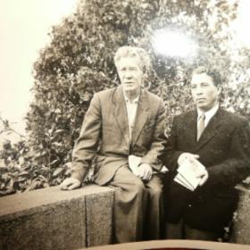 Фотография «Хасан Туфан и Наби Даули на отдыхе в Сочи». 1959