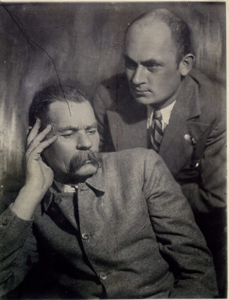 «А.М. Горький с сыном Максимом». Москва. Машков переулок. 1928