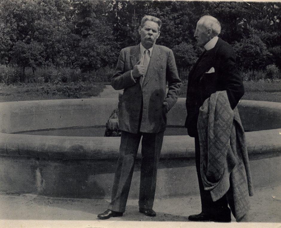Фотография. А.М. Горький и Ромен Ролан