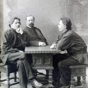Фотография М.П. Дмитриева «А.М. Горький,  Пятницкий, Скиталец». Нижний Новгород. 1902