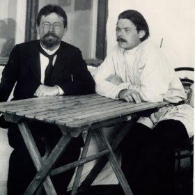 Совместная фотография А.М.Горького и А.П.Чехова. Ялта, 1900 г.