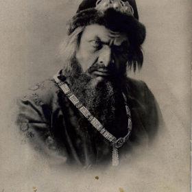 Фотооткрытка.  Ф.И. Шаляпин – Иван Грозный