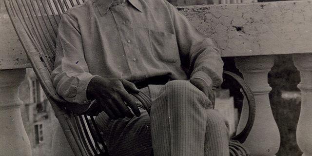 Фото А.М. Горький. Италия. Капри. 1910.
