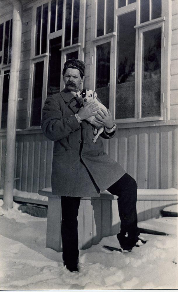 Фото А.М.Горький.Финляндия. Мустамяки. 1914