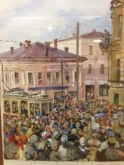 Выступление А.М.Горького на балконе гостиницы «Казанское подворье» 3 августа 1928 г.