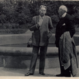 Фото. А.М.Горький и Ромен Роллан.