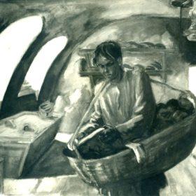 Пешков-булочник. Худ. М.К. Мавровская. 1960-е
