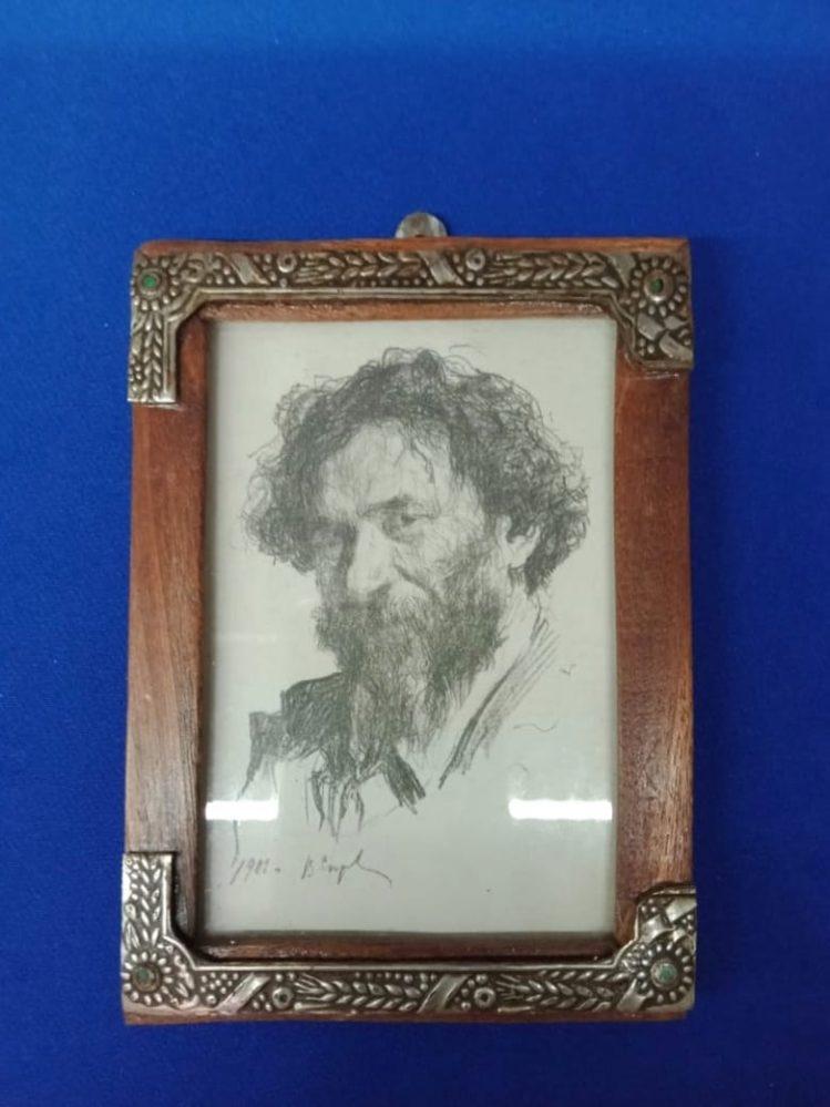 Портрет И.Е.Репина. В.А.Серов. Москва, 1901.