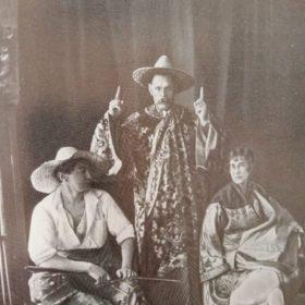 Фото. А.М. Горький, И.Н. Ракицкий и В.М. Ходасевич. Петроград, Кронверский пр. 1920- е.