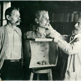Фото. А.М.Горький и скульптор Конёнков. Италия, Сорренто. 1928