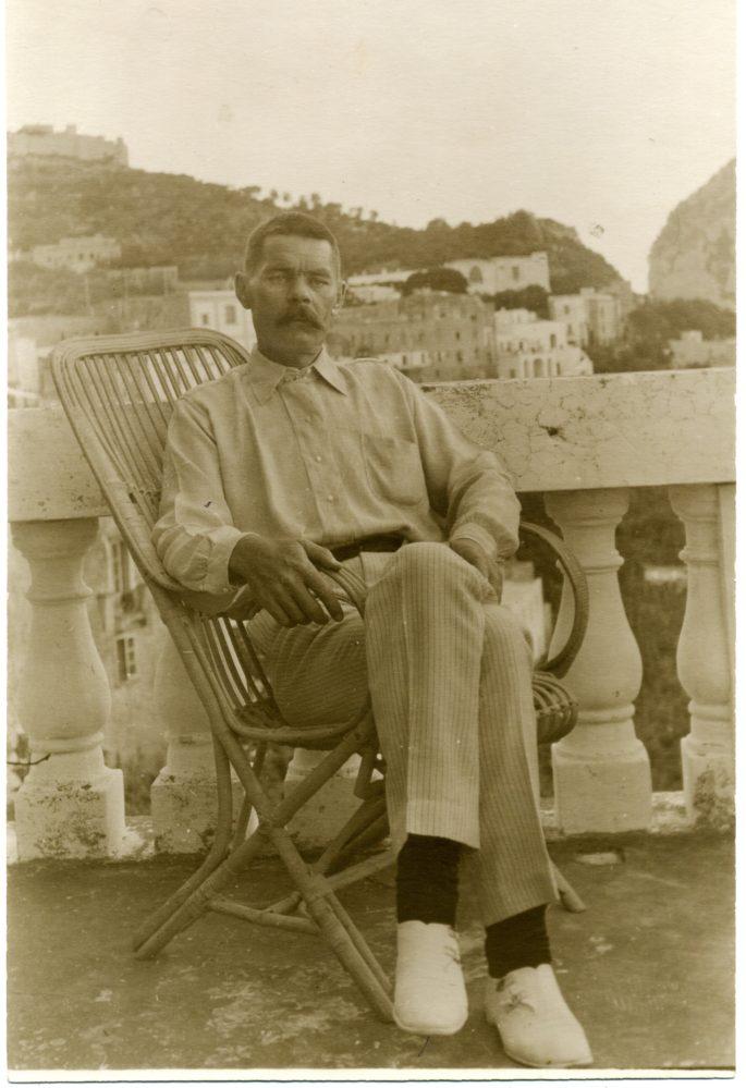 Фото. А.М.Горький. Италия, Капри. 1910