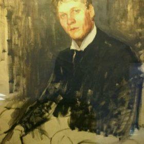«Ф.И.Шаляпин». В.И.Россинский. Холст, масло. Москва, 1902.