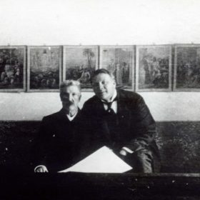 Фото. Ф.И. Шаляпин с Н.В.Башмаковым. Казань, 1912