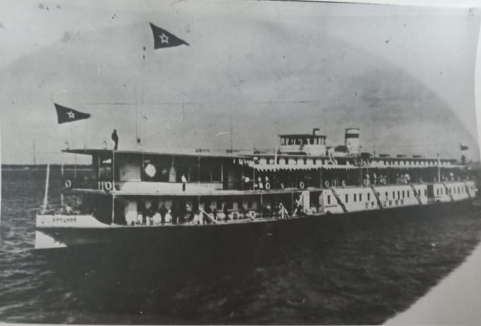 Фото. Пароход «Урицкий», на котором прибыл в Казань А.М.Горький. 1928 г.