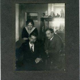 Фото. А.М.Горький, М.Ф.Андреева и  Г.Уэллс. Петроград.1920