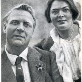 Фото. Федор Иванович Шаляпин и Мария Валентиновна Петцольд.  Санкт-Петербург. 1910-е