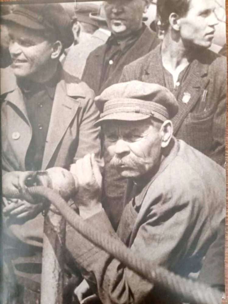 Фото. А.М.Горький и С.М.Киров на Балтийском заводе. Ленинград. 1929