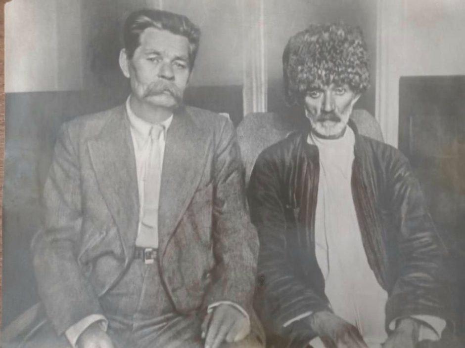 Фото. А.М.Горький и Сулейман Стальский, 1934 г.