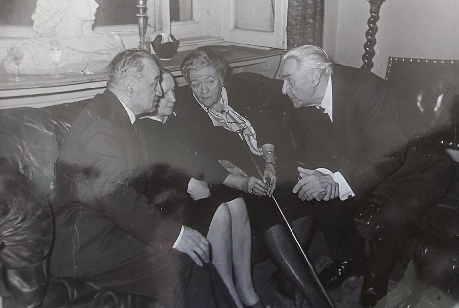 Фото А.И.Микоян, М.П.Роллан, М.И.Будберг, К.А.Федин. Москва. 1961