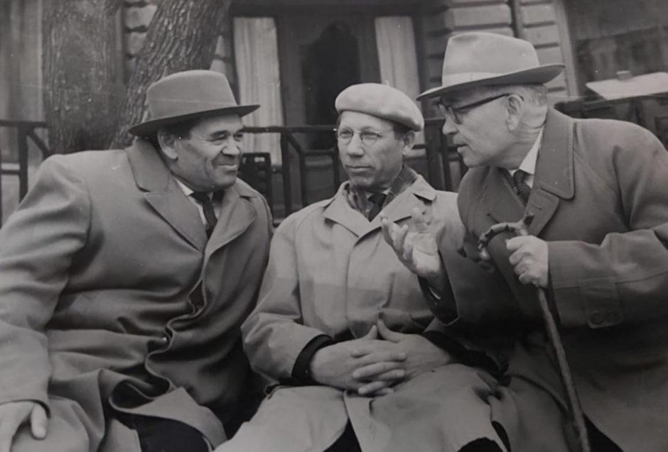 Фото. Хашиб Усманов, Гали Халит, Хамид Ярми. Казань. 1967.