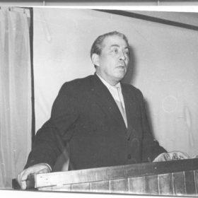 Фото. Выступление Наби Даули в «Казанском музее А.М.Горького». 1970-е.