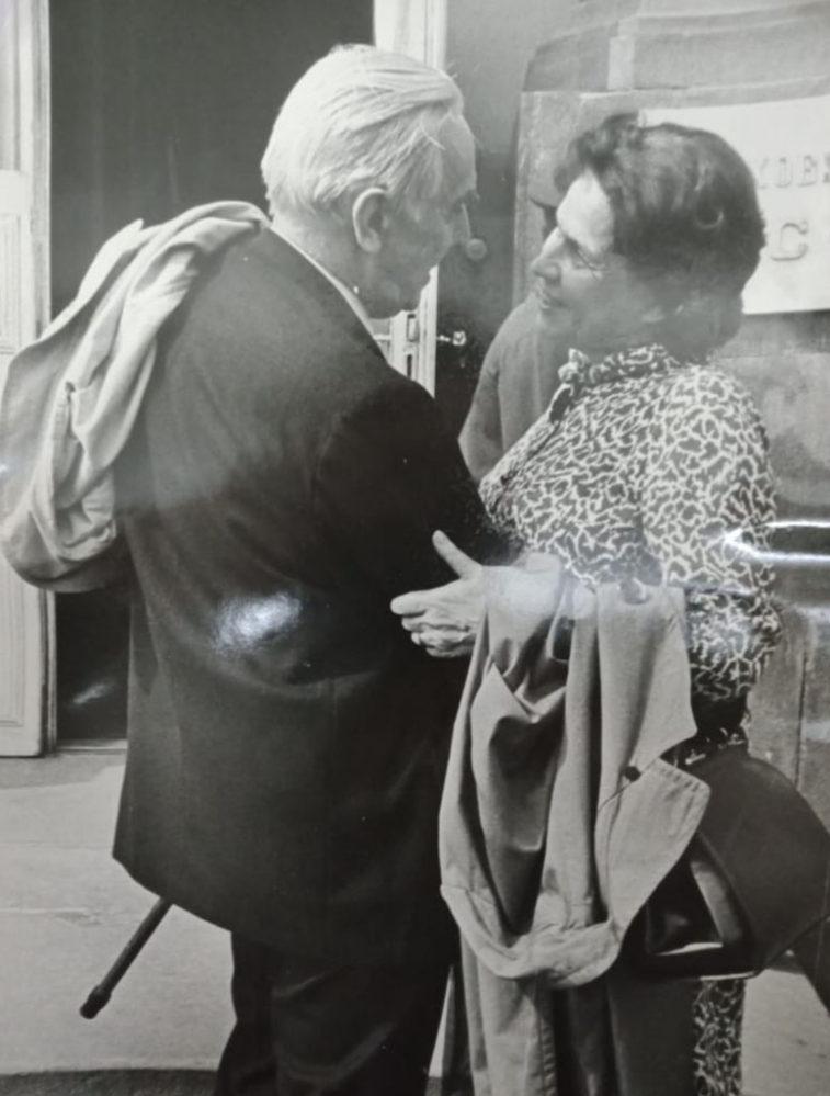 К.А. Федин и Н.А. Пешкова. Москва, 1961 г.