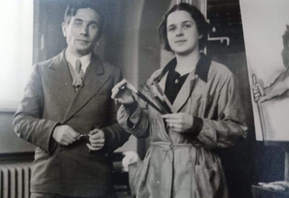 Фото. П.Д.Корин и Н.А.Пешкова. Москва. 1930-е гг.