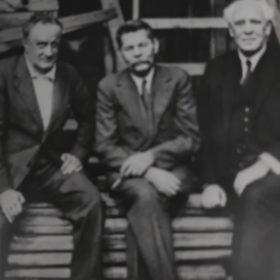Фото. А.М.Горький, В.И.Качалов и К.С.Станиславский. Москва. 1928
