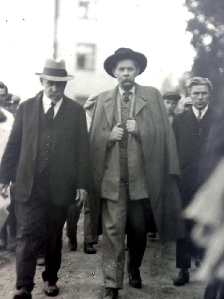 Фото. А.М.Горький и М.А.Горшков.Ленинград. 1929, июнь, любительская фотография М.А.Пешкова