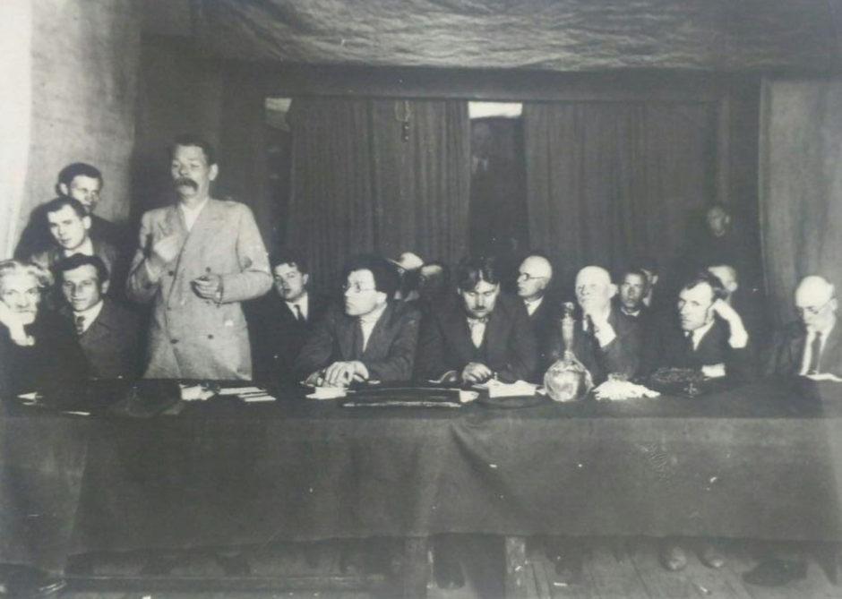 Фото. А.М.Горький на I Всероссийском съезде общества крестьянских писателей. 1929 г.