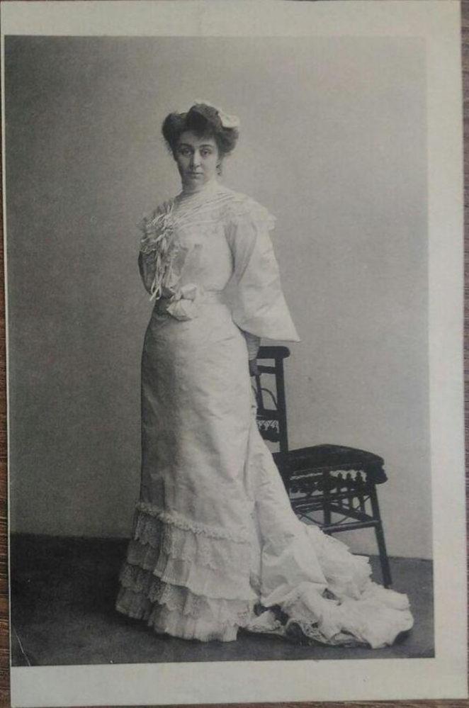 Фото. М.Ф.Андреева в роли Кетэ в пьесе Гауптмана «Одинокие». 1900-е гг.