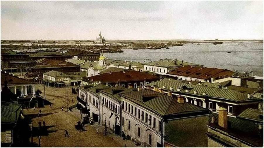 Фото. Нижний Новгород. Вид на Стрелку. Начало ХХ в.
