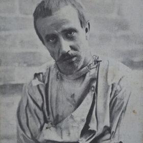 Фотооткрытка. В.И.Качалов в роли Барона в пьесе А.М.Горького «На дне». 1900-е