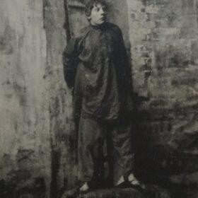 Фотооткрытка. З.А.Пешков в спектакле Московского Художественного театра «На дне». 1903.