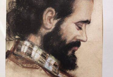 Рисунок М.К.Мавровской «Поэт Марк Зарецкий», пастель, бумага. Казань, 1981.