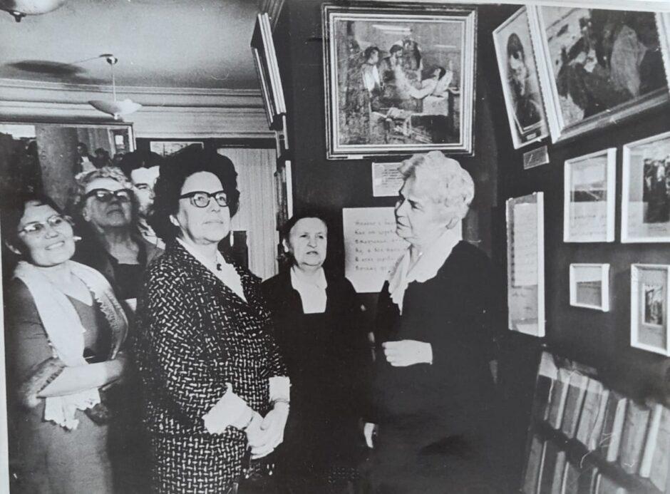 Пешкова Надежда Алексеевна в экспозиции Музея А.М. Горького в Казани. 1960-е